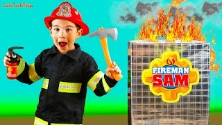 Fireman Sam Surprise Toys Collection Opening - Fire Engine Truck Unboxing Play