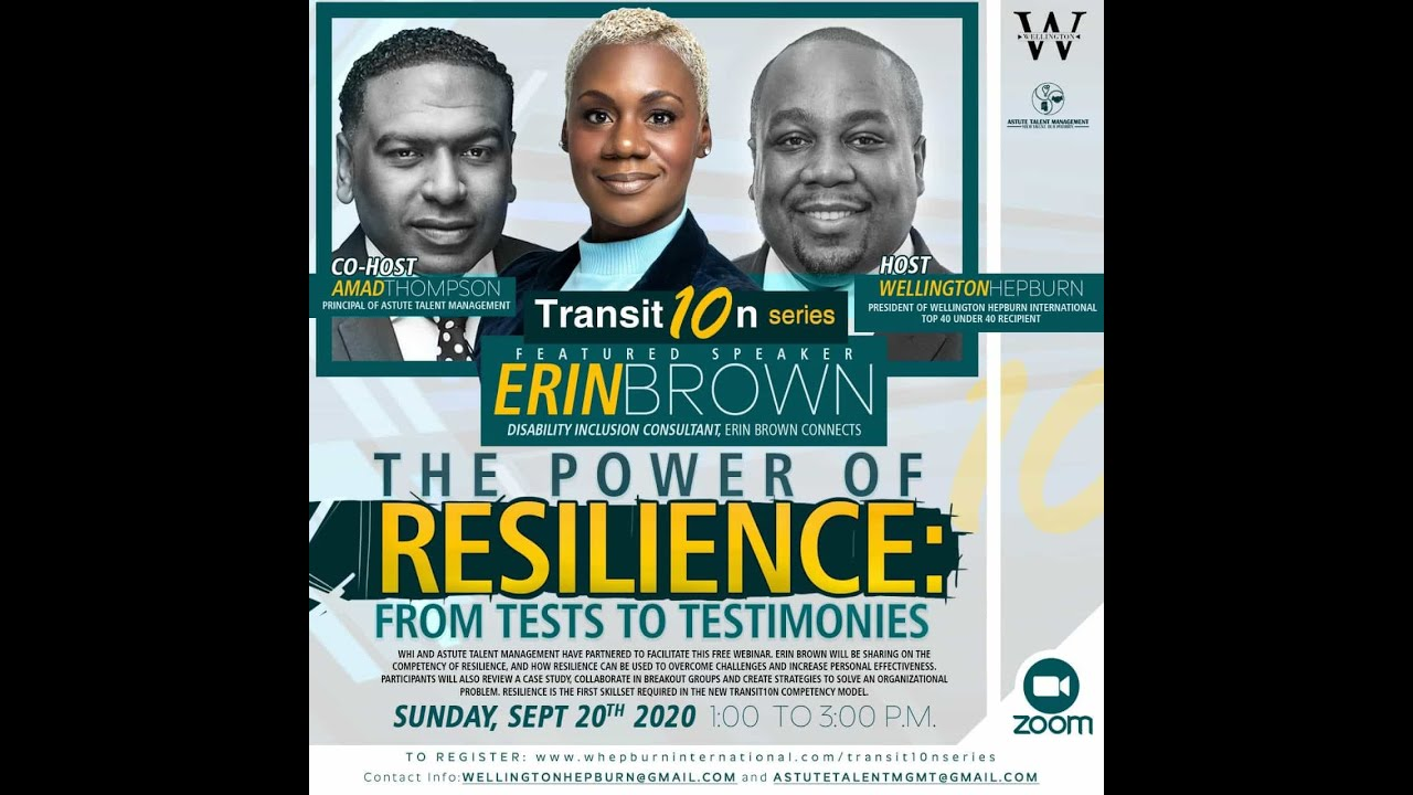 WHI Transit10n Series - Power of Resilience: From Tests To Testimonies Webinar (Sept 20 2020))