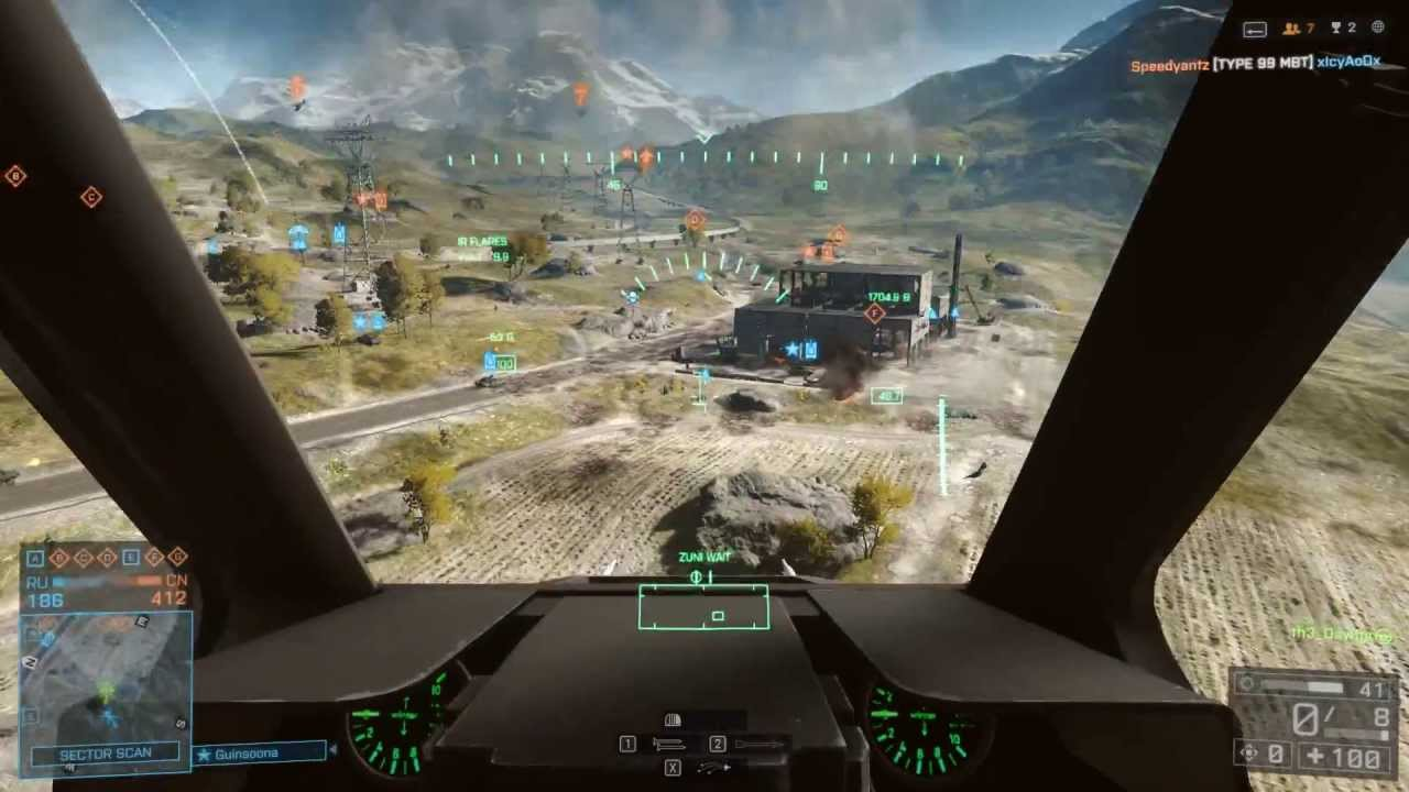 Battlefield 4 Elicottero : Battlefield attack helicopter gameplay tv missile