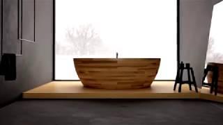 як зробити дерев'яну ванну