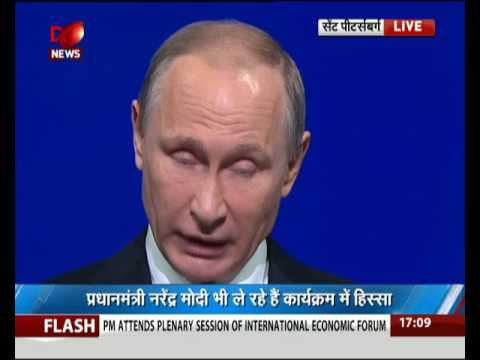 PM Modi attends plenary session of St. Petersburg International Economic Forum - Part 1