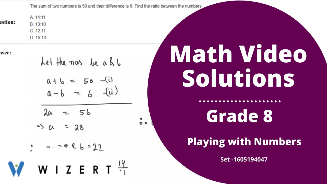 small resolution of Grade 8 Mathematics Worksheets - Playing with Numbers worksheet for Grade 8  - Set 1605194047 - YouTube