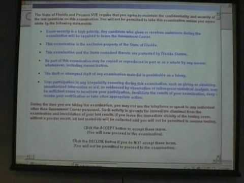 Format of Computer based Exams for Florida Contractors - YouTube