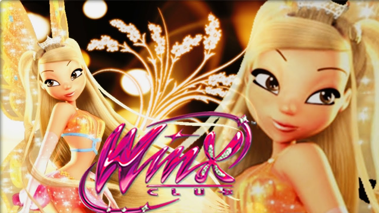 winx club stella s enchantix dress up game for girls youtube