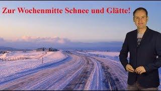 Mittwoch überall Schnee und Glätte möglich, in den Alpen weitere Schneemassen! (Mod.: Dominik Jung)
