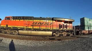 BNSF intermodal with Loud DPUs!
