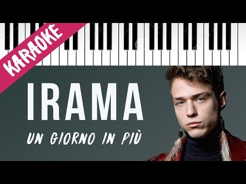 Irama   Un Giorno In Più   AMICI 17 // Piano Karaoke con Testo