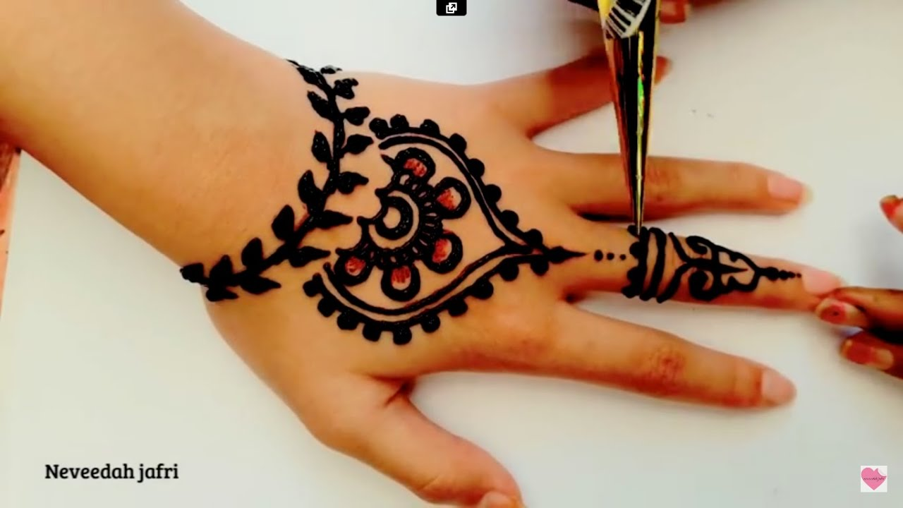 Inai Jenama Party Mehndi : ᴴᴰ best beautiful elegant henna mehndi simple designs