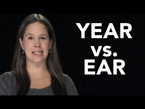 YEAR vs. EAR - American English Pronunciation (EAR vs. HEAR)