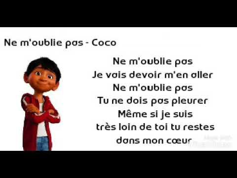 efb08607636f Ne m oublie pas - Coco (Lyrics) - YouTube