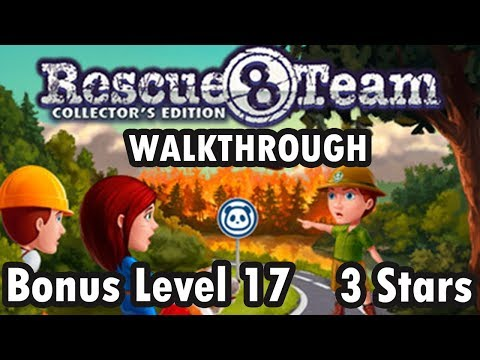 Rescue Team 8 - Collector's Edition - Bonus Level 17 - 3 Stars (Walkthrough) |