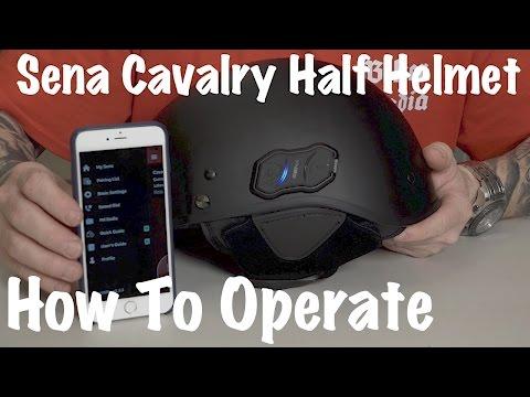 How To Use the Sena Cavalry Bluetooth Helmet-Bluetooth Sync & Pair