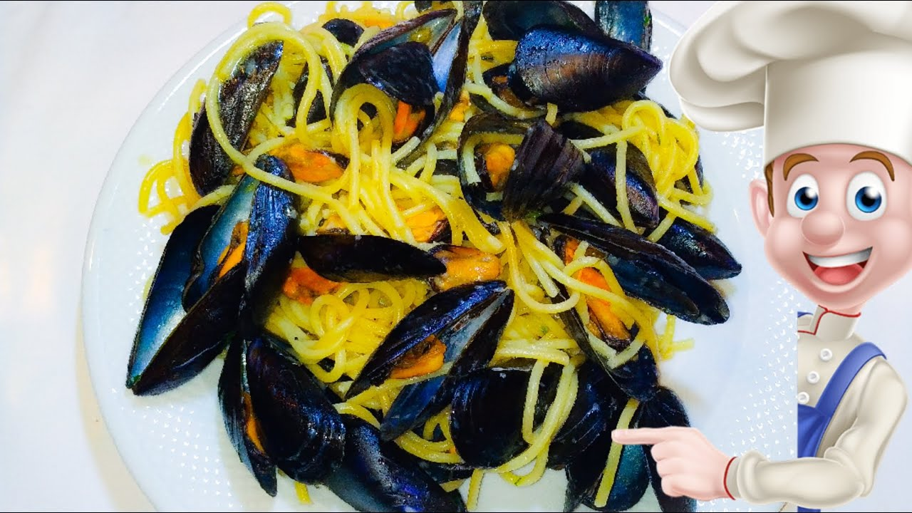 Italian Spaghetti With Mussles, One Of My Faivorite Dishes.