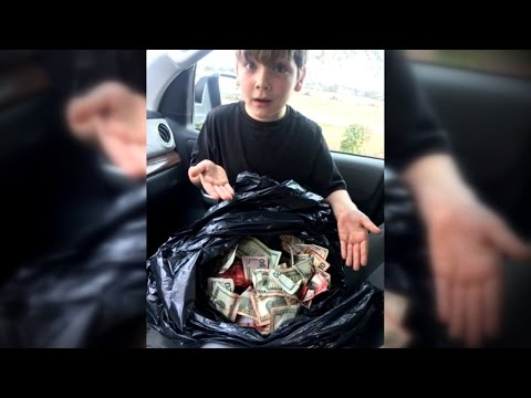 Boy, 7, Called A Hero After Finding Stolen Bag Of Cash Near Robbery Scene