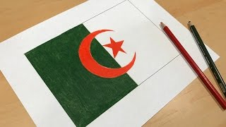 Algerian Flag Drawing 🇩🇿