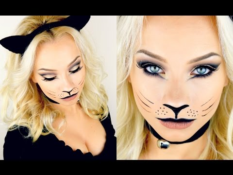 Halloween Kitty Cat Makeup Tutorial 2017