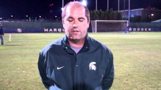 Michigan State Soccer - Coach Rensing post game interview at Marquette 9/16/2011