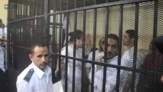 مصر العربية   شاهد لحظة انتظار أية حجازي وزملائهم الحكم في