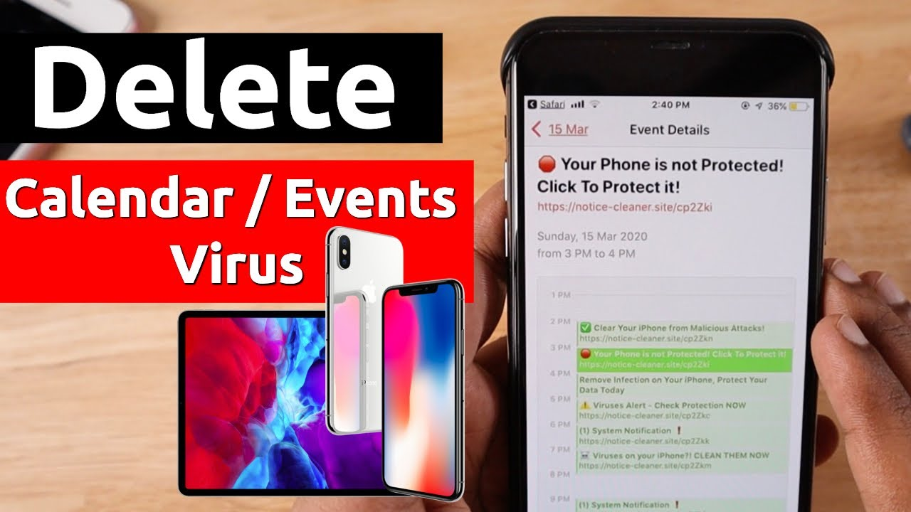 Delete Calendar Virus Events on iPhone and iPad - YouTube