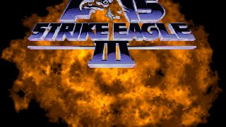 Hot action over Panama in F-15 Strike Eagle III from Microprose
