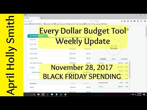EveryDollar Weekly Budget Update  November 28, 2017  $5725.20   April Holly Smith