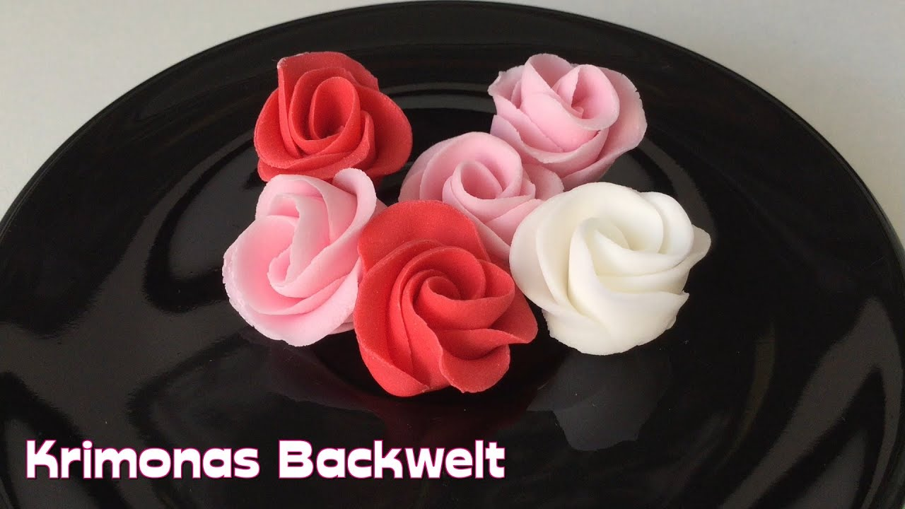 Fondant Rosen Aus Eins Mach Zwei Make One Get Two Fondant