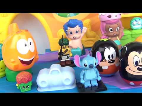 Mickey Mouse Clubhouse & Friends Rolling Toy Set / Goofy, Pluto, Bubble Guppies Gil, Playdoh / TUYC