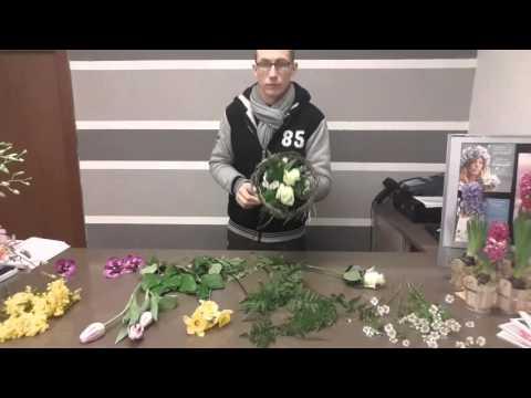 Tutorial Realizzazione  Bouquet con Mimosa presso the florist pisogne