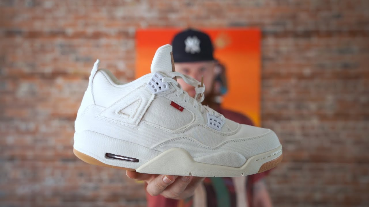 low priced ae79c 2ac3b EARLY LOOK: AIR JORDAN 4 WHITE LEVIS!!!