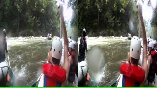 "3D Ocoee River Whitewater Rafting 15 ""Surfing at HollyWood Hole"""