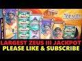 $12,000 + JACKPOT HAND PAY on ZEUS III High Limit CASINO Slot Machine BIG WIN by WMS