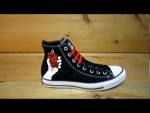 Converse All Stars Chuck Taylor Green Day American Idiot Shoes