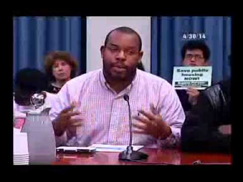 Eugene Puryear Testimony on Public Housing Budget April 30, 2014