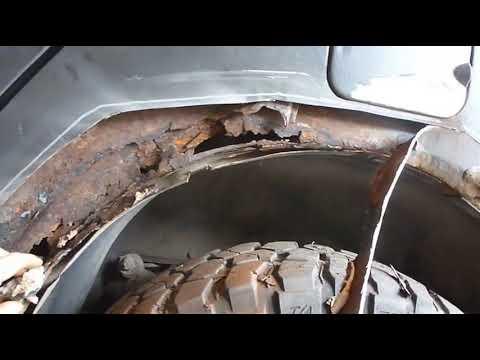 Сварка. Как согнуть металл на коленке!, на порог и арку.Левый порог, задняя арка. УАЗ Патриот 6#