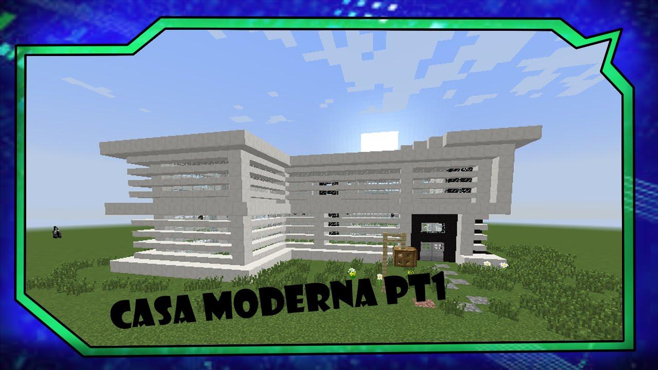 Tutoriais minecraft como construir a casa moderna pt1 for Casa moderna gigante minecraft