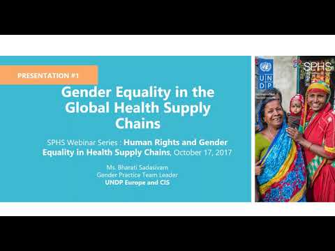 SPHS Webinar Series: Human Rights and Gender Equality in the Global Health Supply Chains
