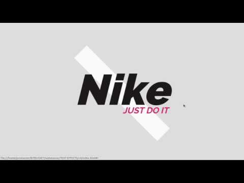 CSS3 Text | Nike Brand Animation Effect on Hover | Online Tutorial