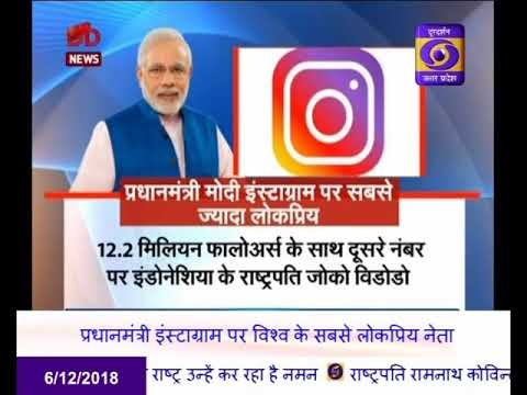 Prime Minister Narendra Modi becomes the most popular leader of the world on Instagram