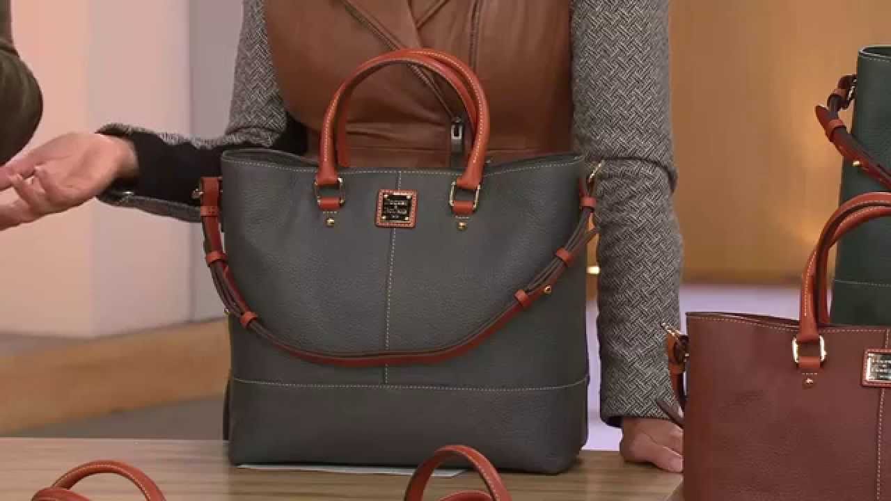 Dooney & Bourke Pebble Leather Chelsea Shopper with Lisa ...