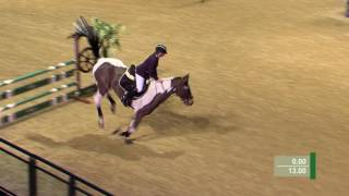 Watch Jessica Hewitt's impressive performance in the the Your Horse CSI Am B jump off