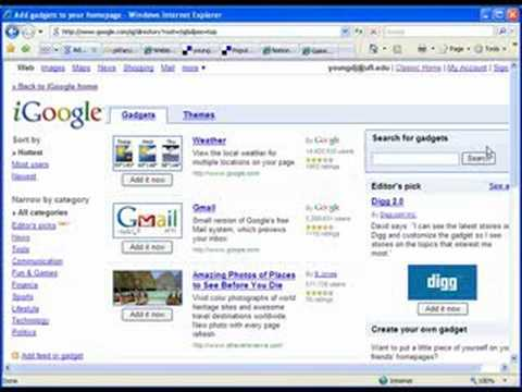 iGoogle Tutorial Part 1