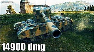 Новый рекорд на FV4005 Stage II 🌟 14900 dmg 🌟 World of Tanks максимальный урон на британской пт