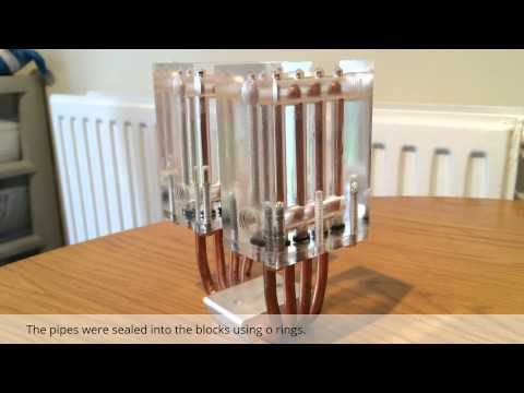 Water cooled heat pipe cpu cooler