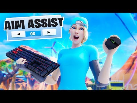 I used AIM ASSIST on MOUSE & KEYBOARD... (insane glitch)