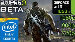 Sniper Ghost Warrior 3 Beta: GTX 1050 ti - i3 6100 - 1080p - 900p - 720p