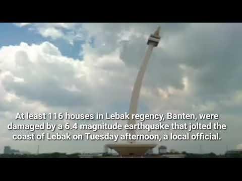6.4 magnitude earthquake in Jakarta (23/1/2018) زمین لرزہ در جکارتا با رشتر (6.4 )