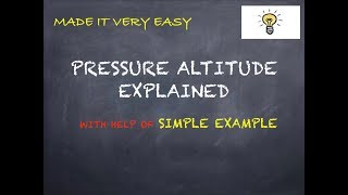WHAT IS PRESSURE ALTITUDE