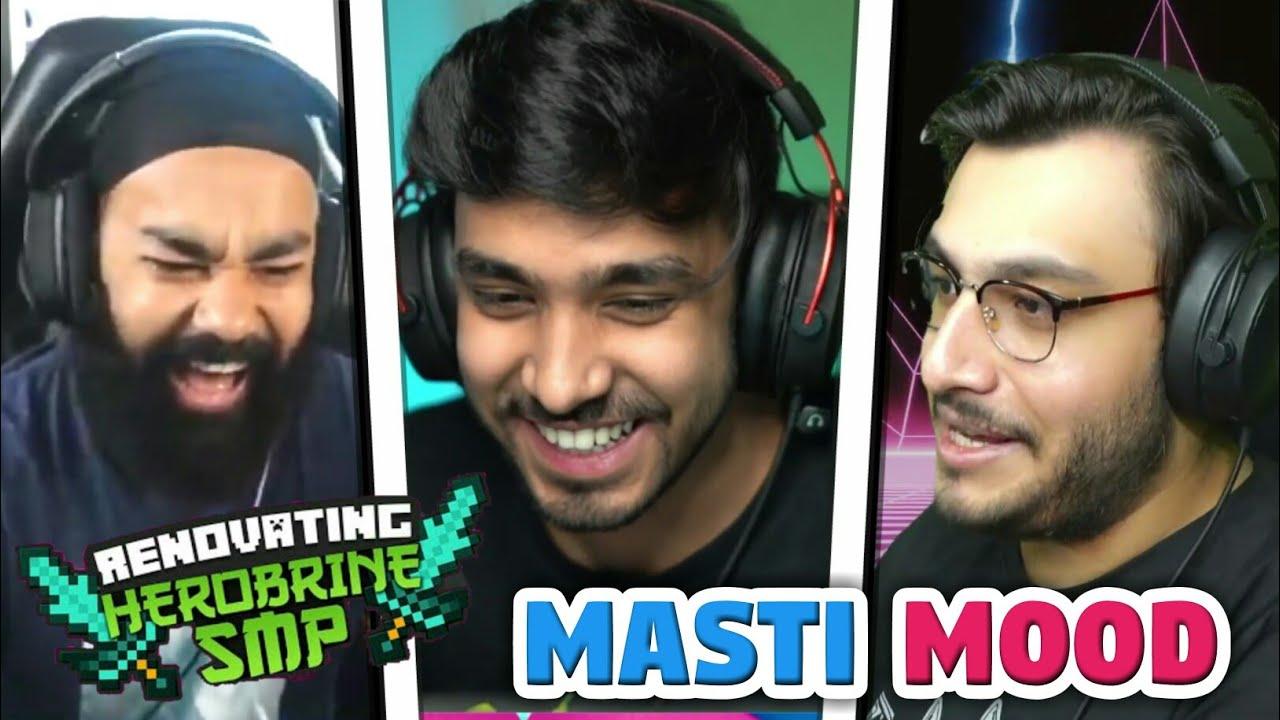 Gamers Full On Masti Mood In Herobrine Smp | Techno Gamerz | Battle Factor