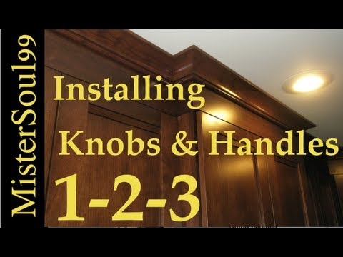How To Install Knobs And Handles On Cabinets Youtube