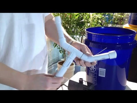 How to make an inexpensive low-pressure aeroponic system - Version 2 - Full Video
